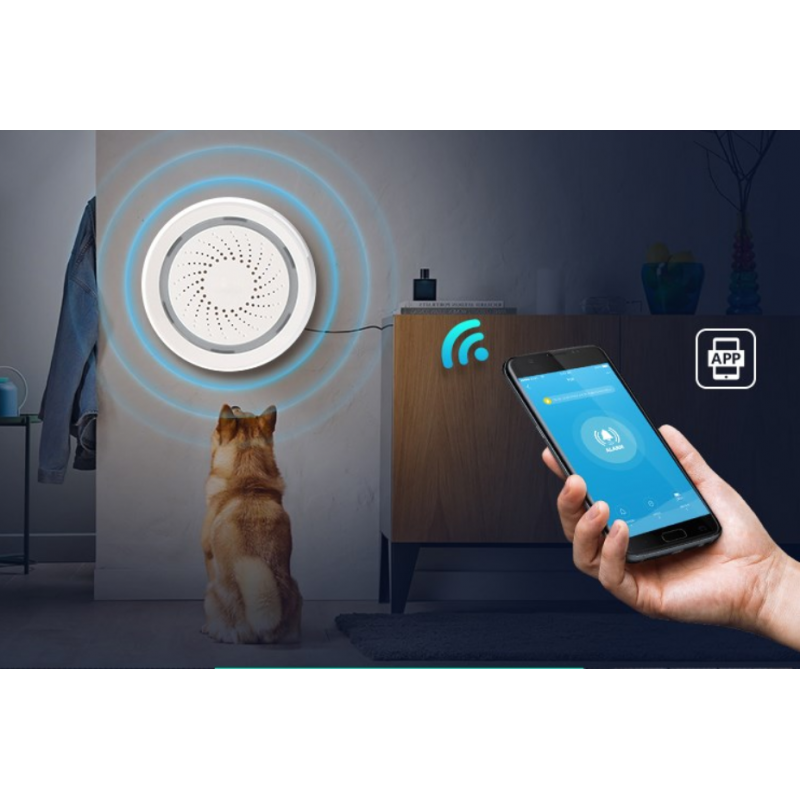 Siréna Secutek Smart WiFi ASA01
