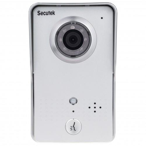 Domovní bezpečností wi-fi videozvonek Secutek HD WIFI602
