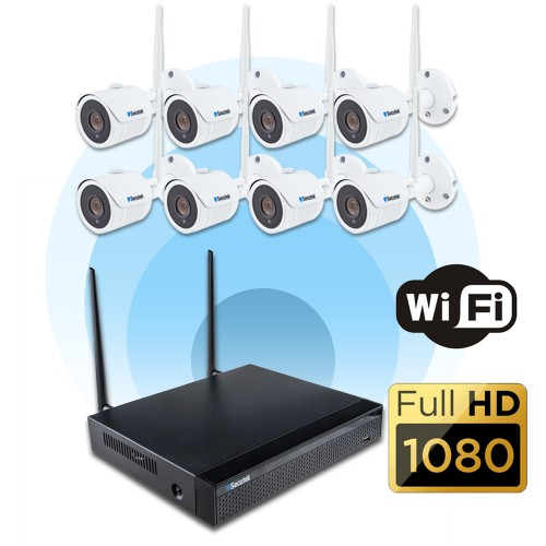 Bezdrátový 8-kamerový systém se záznamem Secutek KS8-1W - 1.3Mp, WiFi