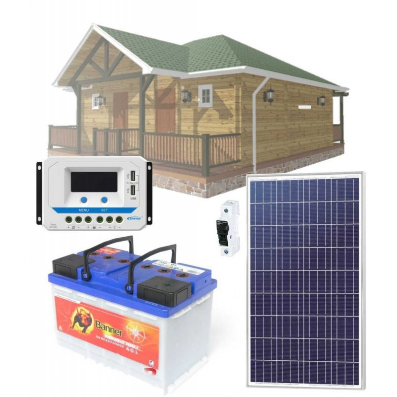 Solární systém 90Wp / 12V