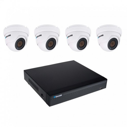 8MP kamerový set Secutek SLG-NVR3604CDP1FE800