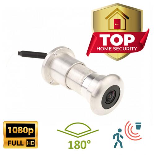 Stříbrné Bezdrátové dveřní kukátko Secutek SKI-ID158