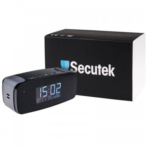 Malé digitální hodiny Secutek SAH-IP006 se skrytou WiFi kamerou