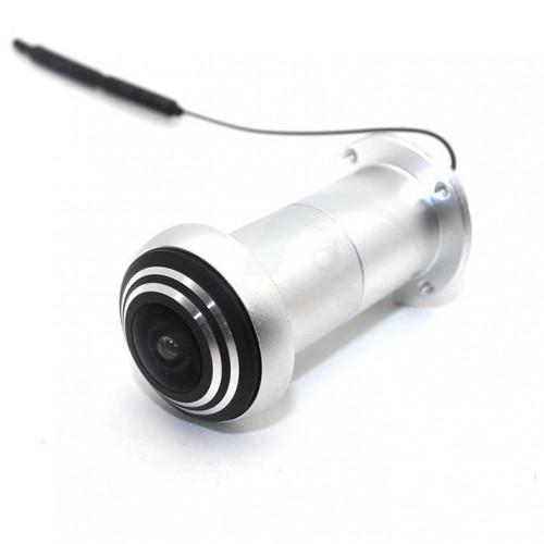 Stříbrné WiFi dveřní kukátko Secutek SKI-ID158IP2MPW2