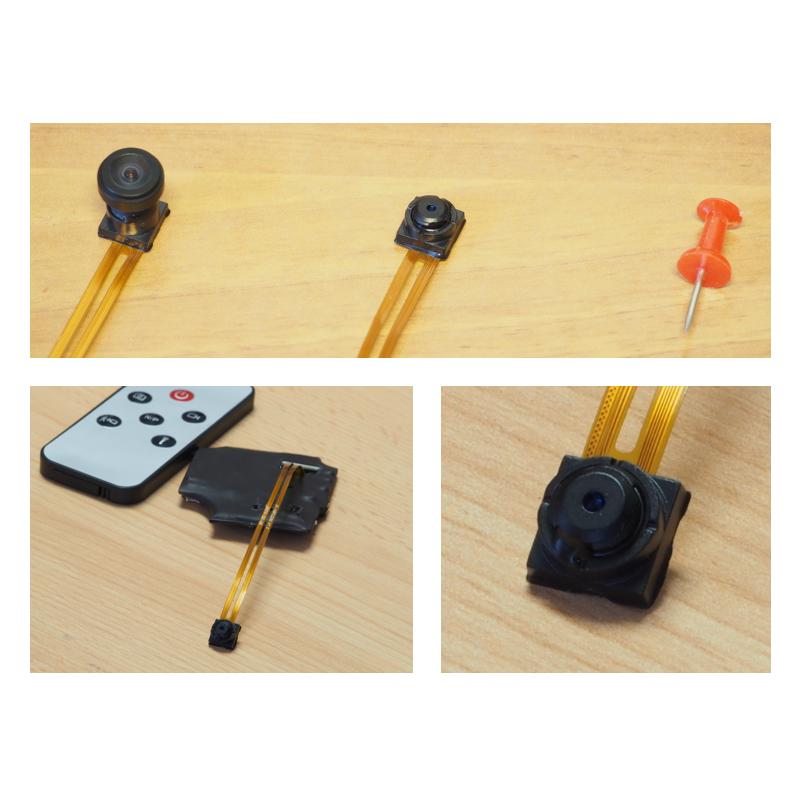 Minikamera s detekcí pohybu Secutek KM02+ pro skrytou montáž
