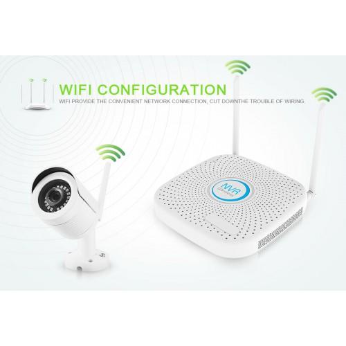 Bezdrátový 4-kamerový systém se záznamem Secutek KS4-1W - 1.3Mp, WiFi