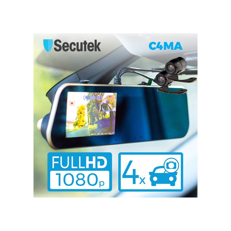 4-kanálová kamera ve zpětném zrcáku Secutek C4MA
