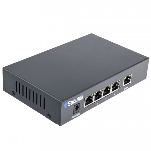 5 port PoE switch Secutek LS-RT411