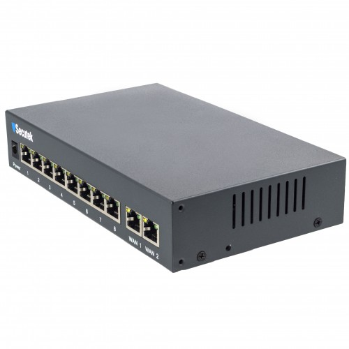 10 port PoE switch Secutek LS-RT812