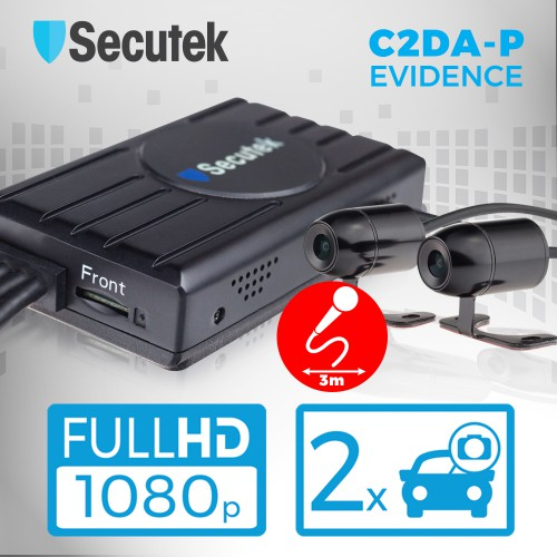 Duální Full HD kamera do auta s DVR Secutek EVIDENCE C2DA-P