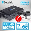 Duální Full HD kamera do auta s DVR Secutek EVIDENCE C2DA-P