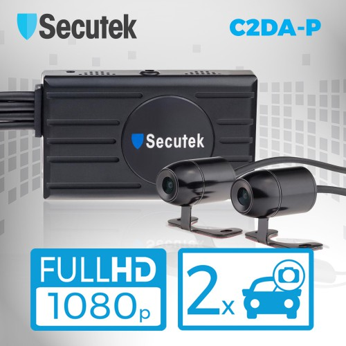 Duální Full HD kamera do auta s DVR Secutek C2DA-P
