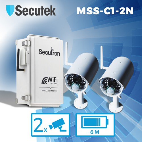 Bezdrátový kamerový systém Secutron MSS-C1-2N s výdrží až 6 měsíců