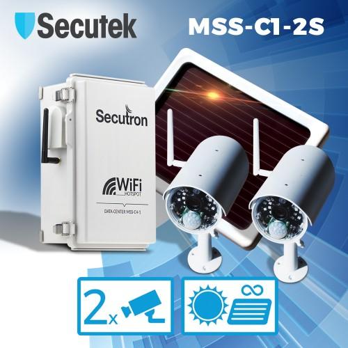 Solární bezdrátový kamerový systém Secutron MSS-C1-2S