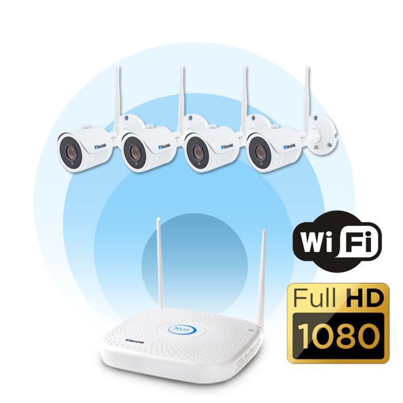 WiFi kamerový systém se záznamem Secutek KS4-2W - 2Mp, WiFi