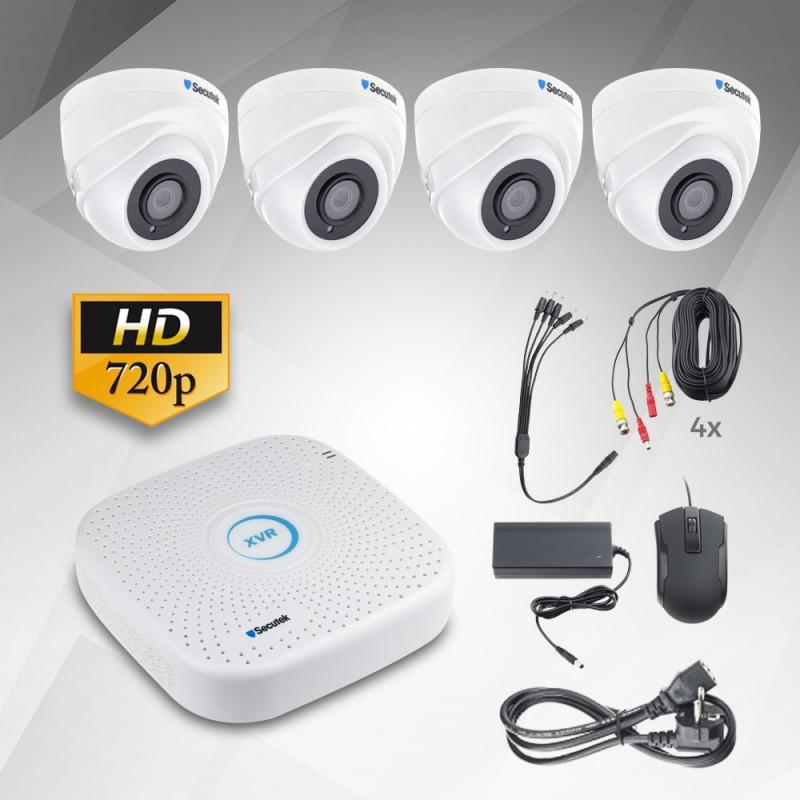 1.3Mp AHD kamerový systém  Secutek KS4-1D - 4 kamery