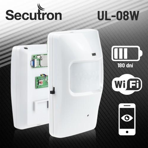 Skrytá WiFi kamera v PIR čidle Secutron UltraLife UL-08W