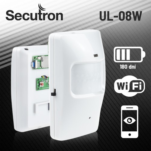 Skrytá kamera v PIR čidle Secutron UltraLife UL-08 s extrémní výdrží