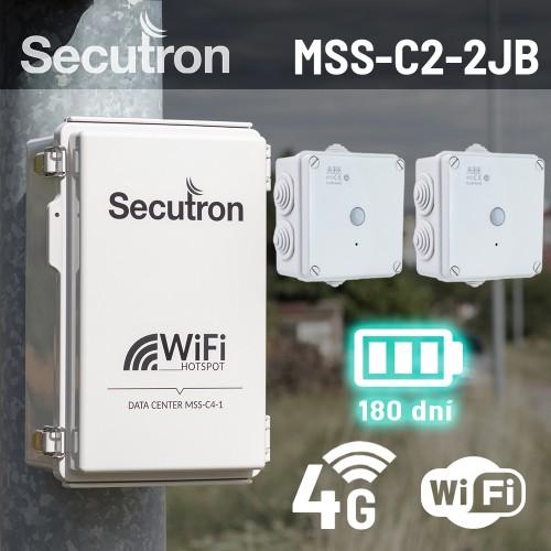 Bezdrátový 4G bateriový kamerový systém Secutron MSS-C2-2JB s dlouhou výdrží