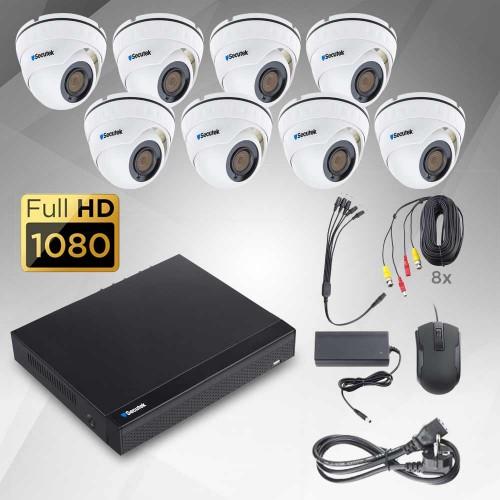 2Mp AHD kamerový systém Secutek KS8-2D - 8 kamery