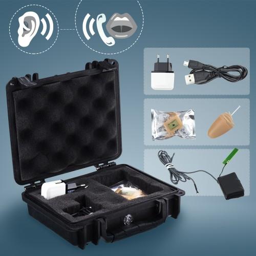 Mikrosluchátko pro skrytou komunikaci s GSM boxem a Knowles mikrofonem Secutek MS18