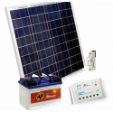 Solární systém 50Wp / 12V + 60Ah akumulátor