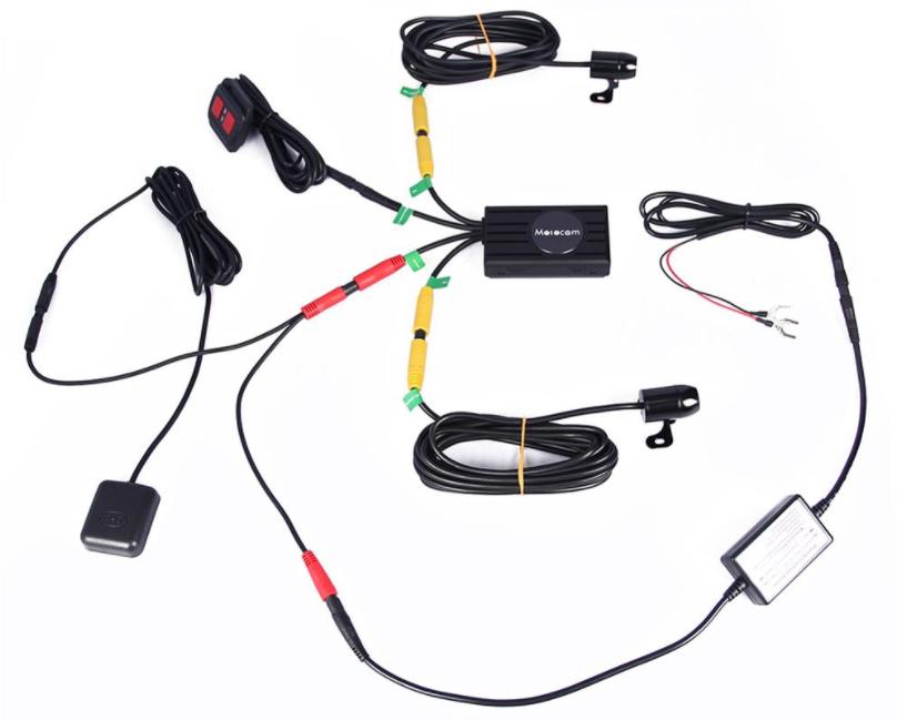 Duální Full HD kamera do auta Secutek C1P - obsah balení