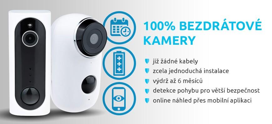 100 % bezdrátové kamery